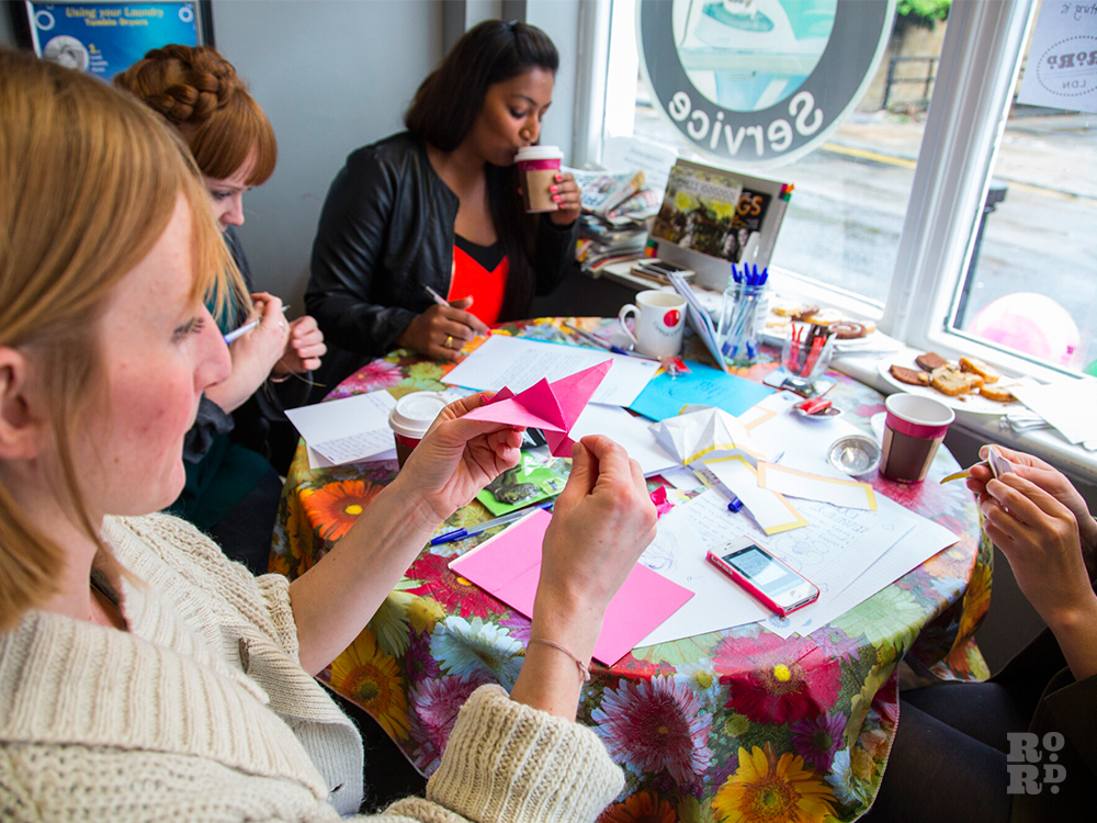 Letter Lounge workshop at Bow Wash Launderette