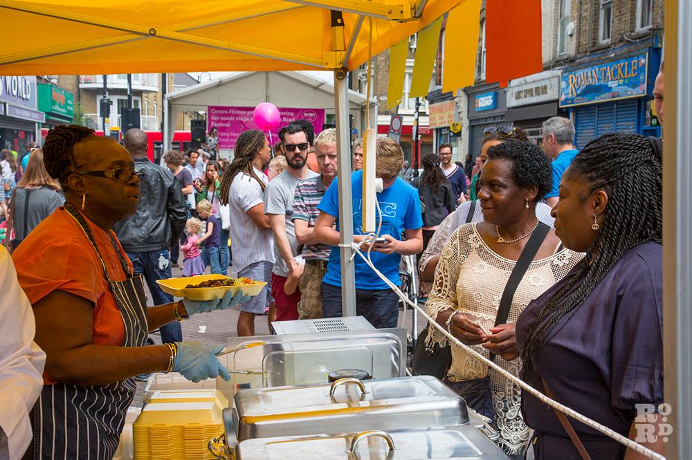 Super Chef Caribbean food stall Roman Road Festival