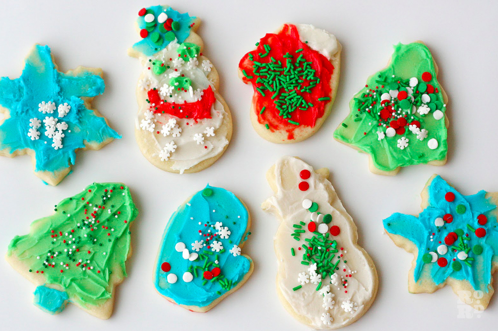 Biscuits decorated by children for Christmas