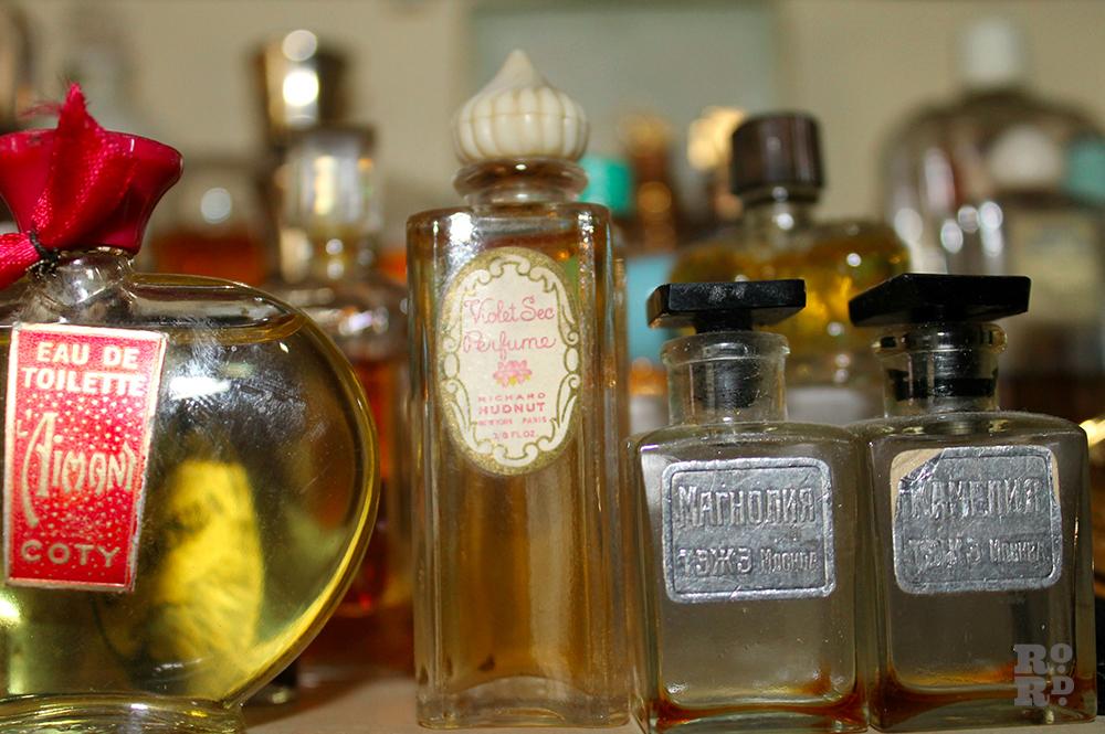 Vintage and antique scent bottles.