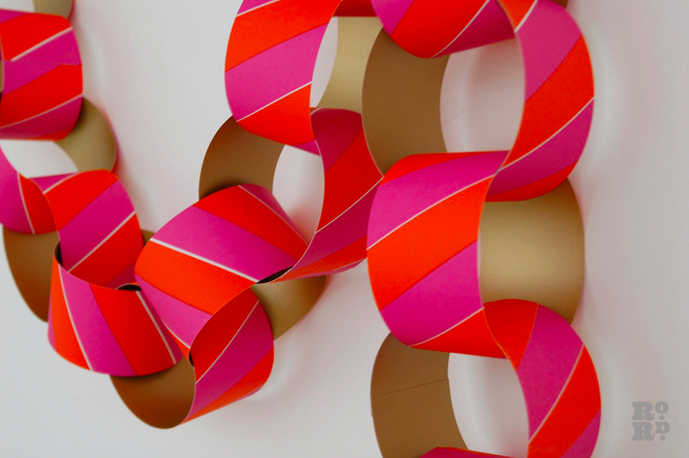 Giant paper chain