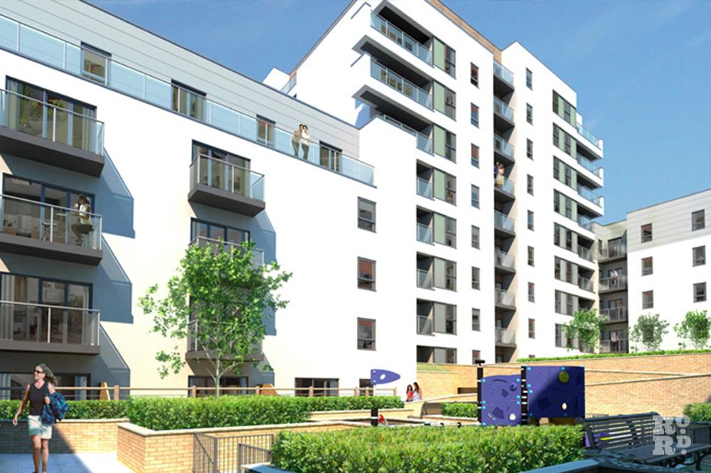 GGI of Essence E3 housing development in Bow, East London.