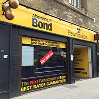 Pawnbrokers shopfront east london