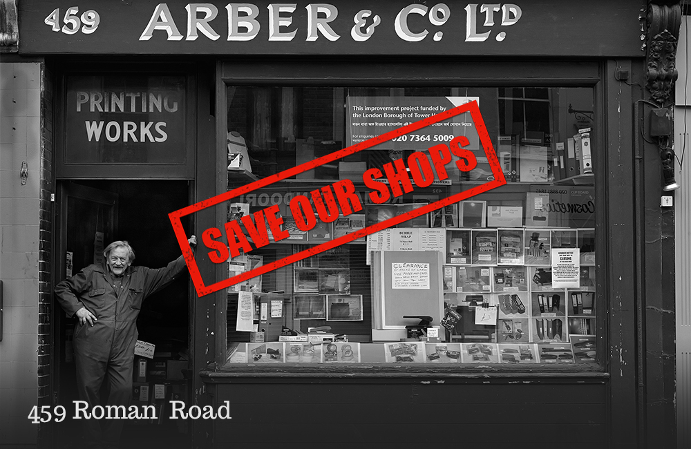 Save Our Shops: 459 Roman Road, formerly Arbers stationery