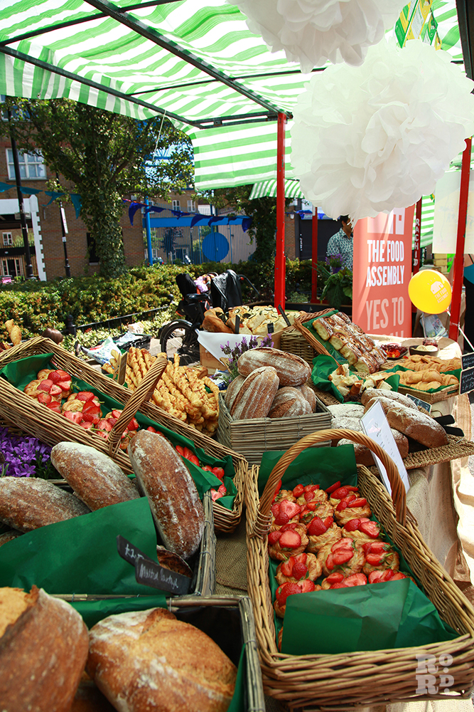 Fresh local produce at the Roman Road Food Assembly stall at Roman Road Festival