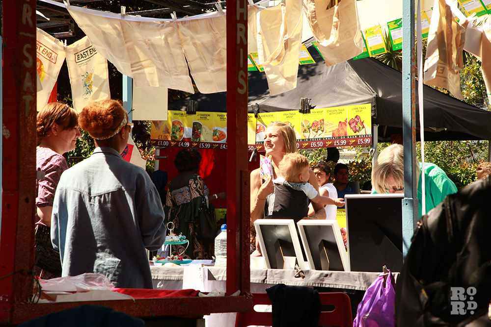 Market stalls at Roman Road Festival