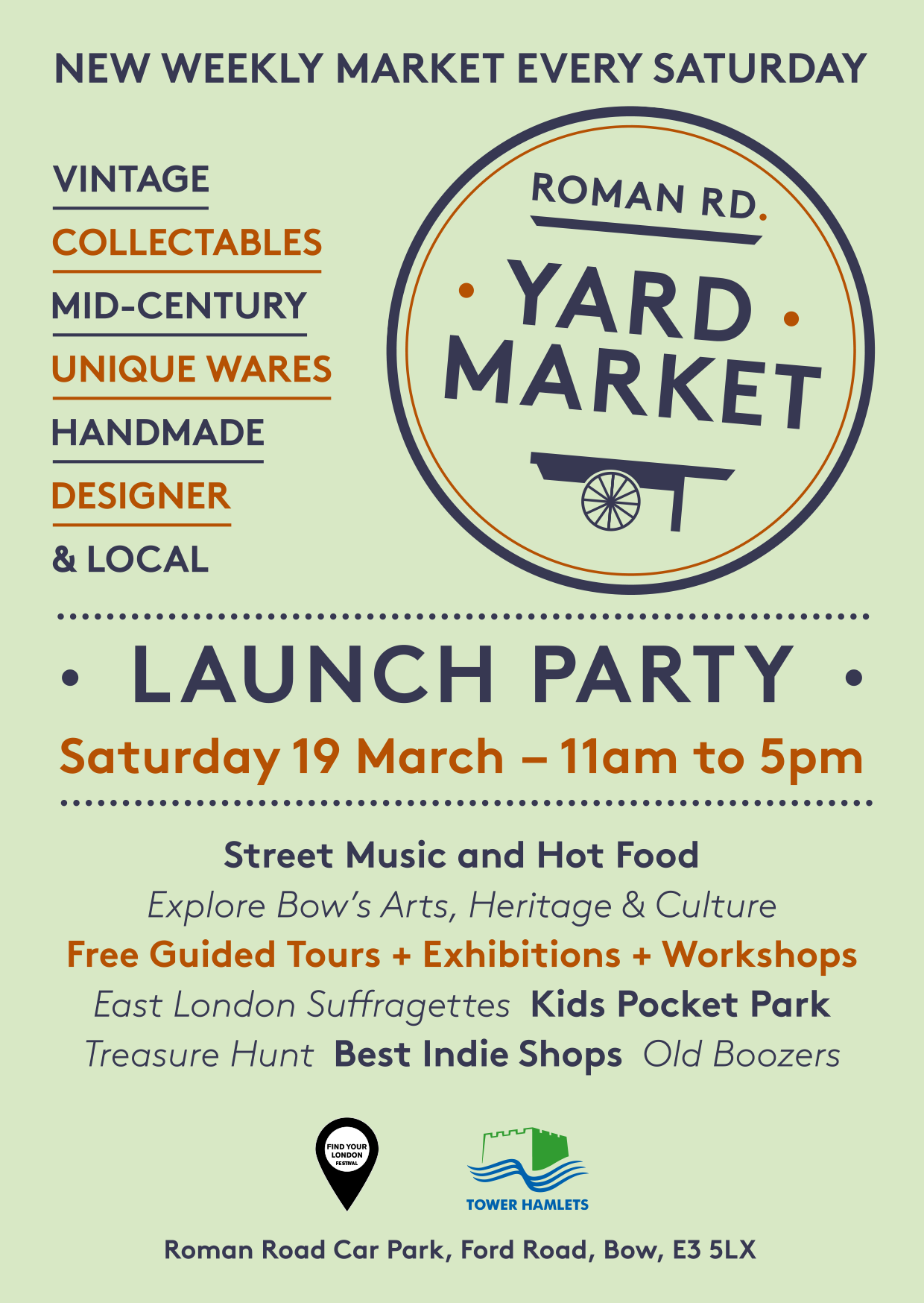 Roman Road Yard Market flyer