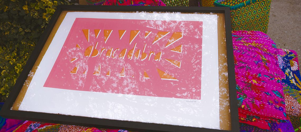 Abracadabra print at Roman Road Yard Market launch event