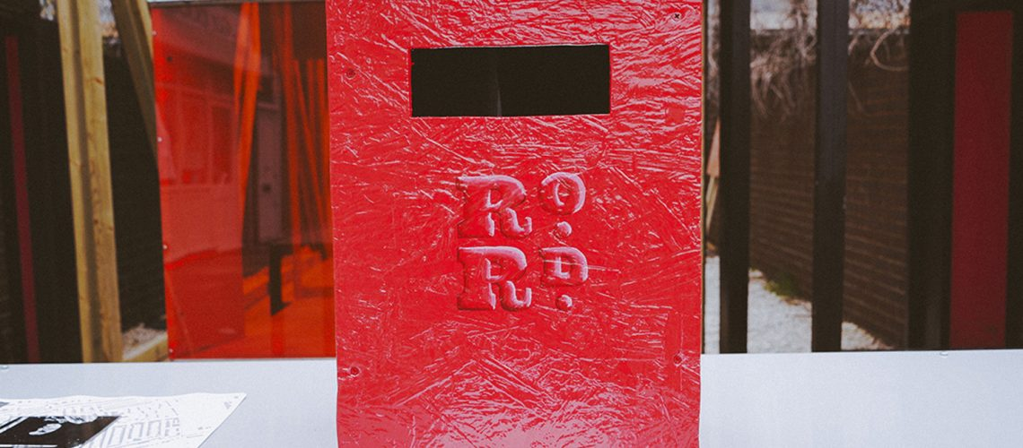 RoRd letter box at Roman Road Yard Market launch event