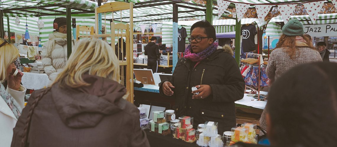 Roman Road Yard Market launch event with Zarina from Kiki's Homemade Soap