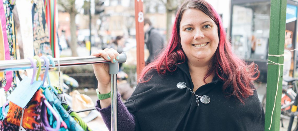 Esme of Esdes Handmade at Roman Road Yard Market launch event