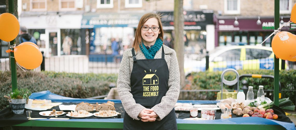 Roman Road Yard Market launch event with Ioana Dragomir of Roman Road Food Assembly