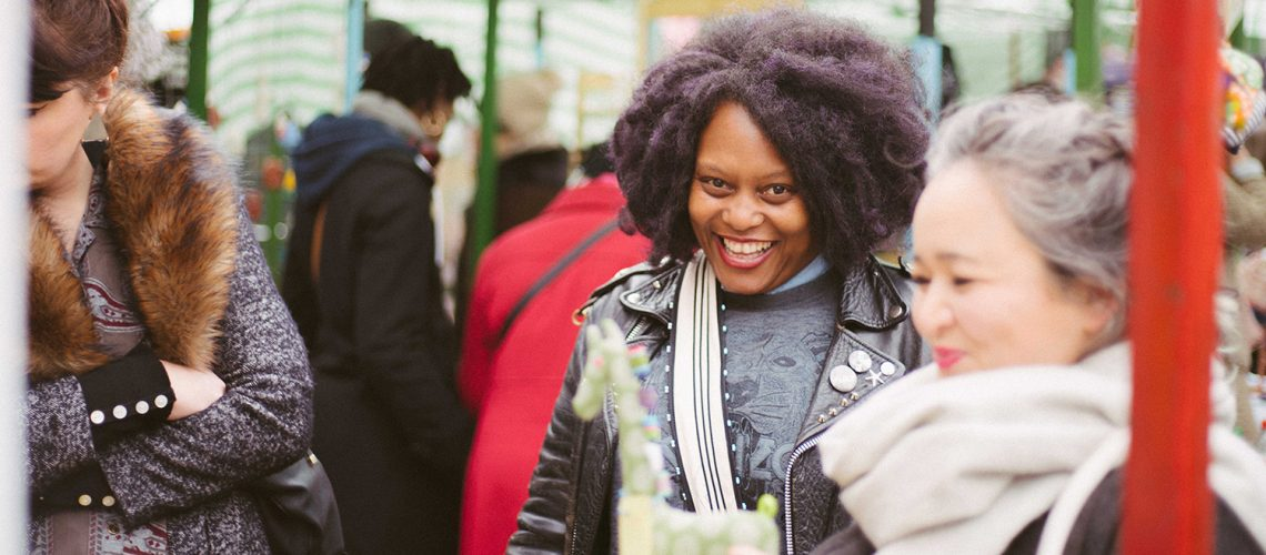 Roman Road Yard Market launch event with Busi of Ekhara