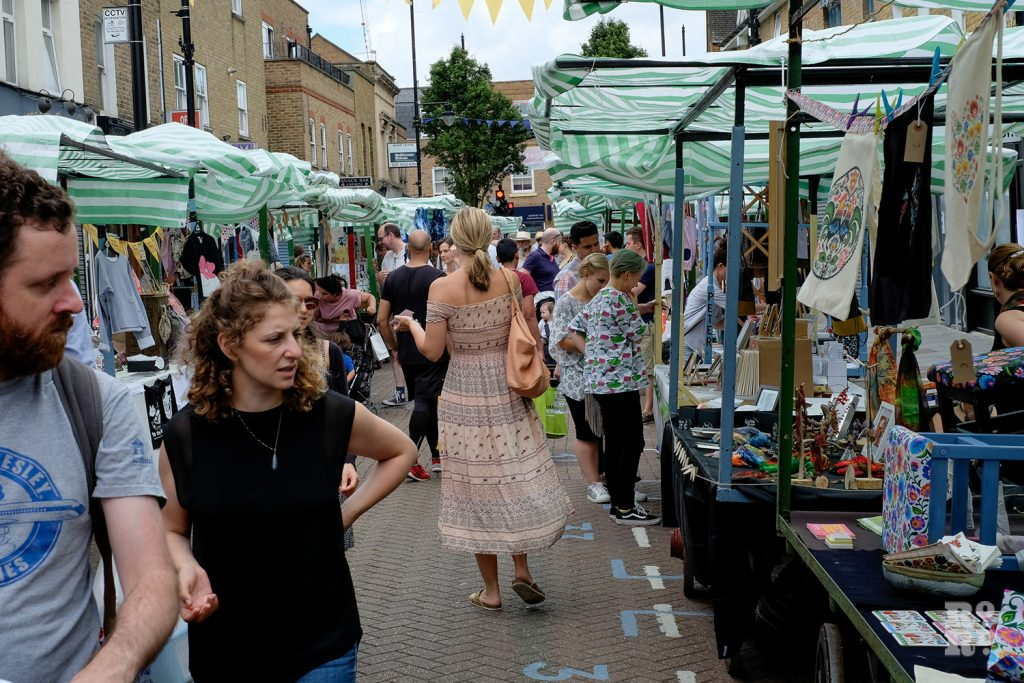 The designer-maker traders from Urban Makers East at Roman Road Summer Festival 2016