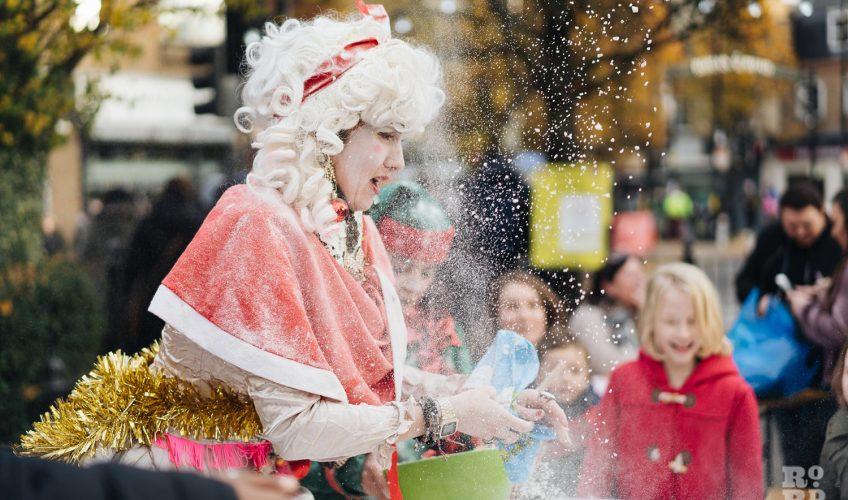 Snow or flour? Roman Road Christmas Fair 2016 © Roman Koblov