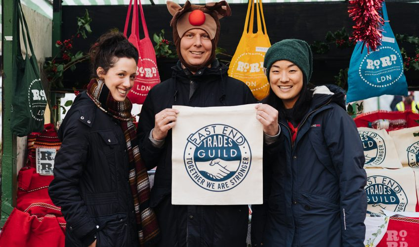 East End Trades Guild members at their stall at Roman Road Christmas Fair 2016 © Roman Koblov