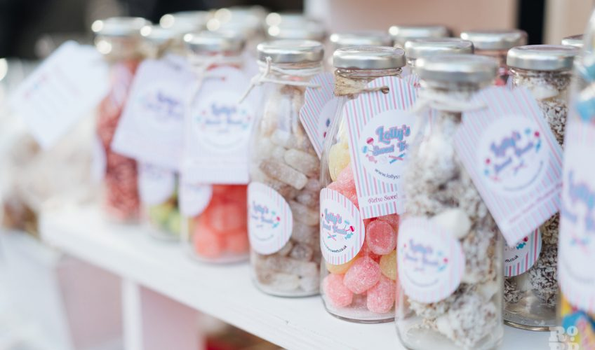 Jars of sweets at Roman Road Christmas Fair 2016 © Roman Koblov