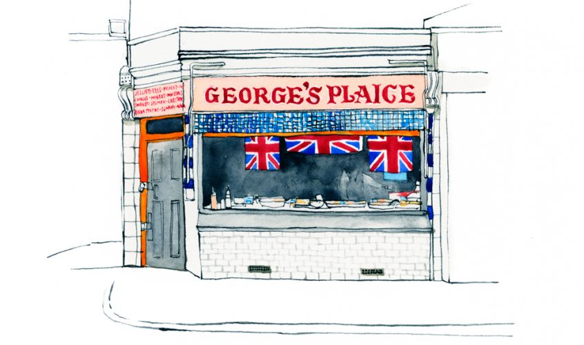 Eleanor Crow's Roman Road shopfront illustrations