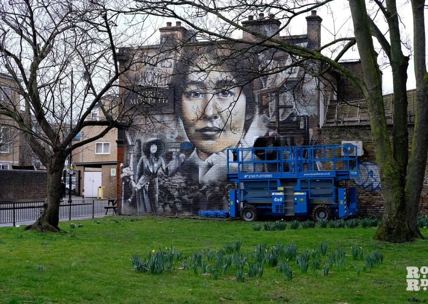 Mural on Lord Morpeth in Bow commemorates Sylvia Pankhurst