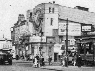 Old Vogue cinema on the corner of Burdett Road and Bow Road 1954