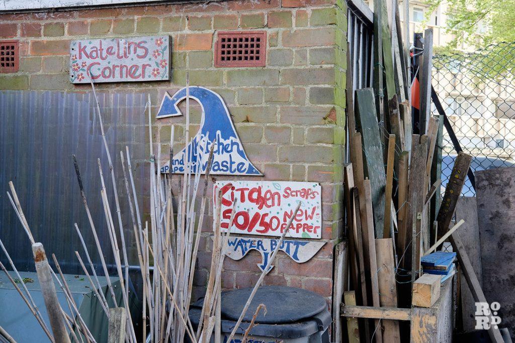 Compost bins at Cranbrook Community Food Garden
