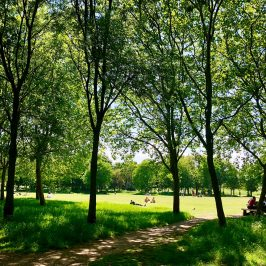 Photograph of people in Mile End Park