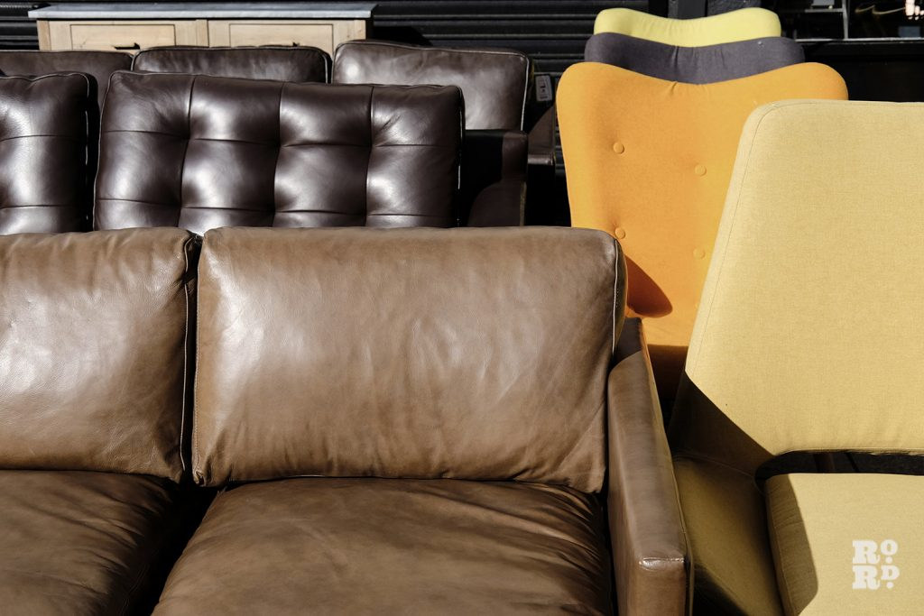 Sofas and chairs at Lofty's furniture shop
