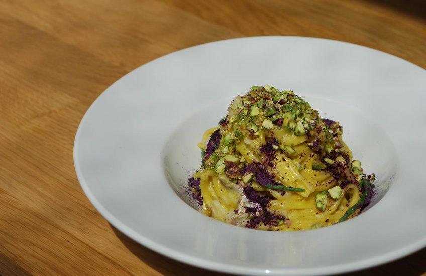 red mullet pistachio pasta symposium