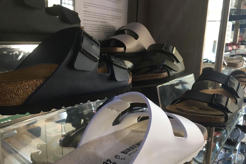 Birkenstocks in shoe shop on Roman Road