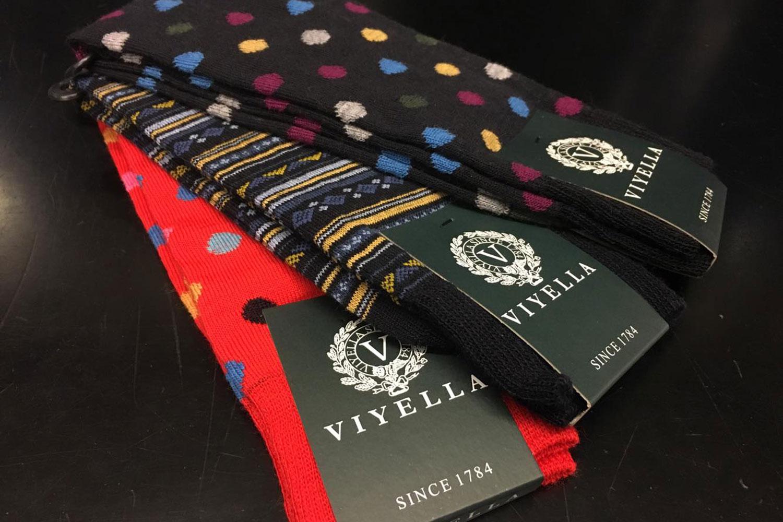 Colourful socks at whistles roman road
