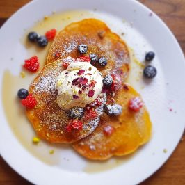 90 degree melt mile end vegan pancakes