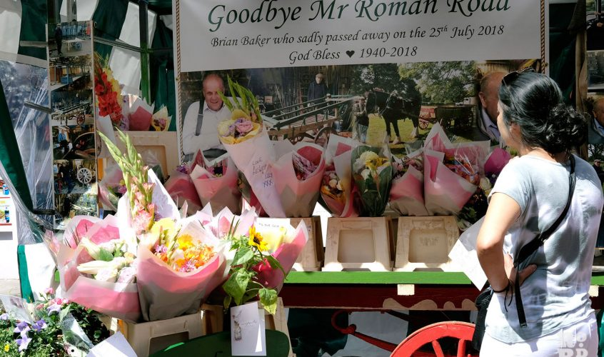 Roman Road Market traders pay tribute to Brian Baker