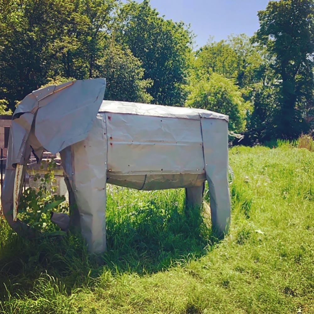 Doris the elephant in Tower Hamlets Cemetery Park