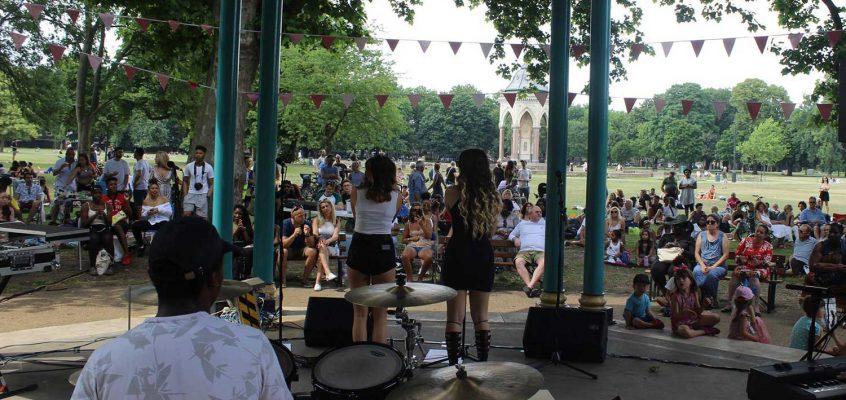 Ukelele Ska and comedy at Victoria Park Bandstand