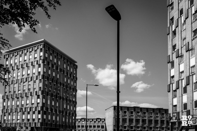 Claire Watts photograph of Cranbrook Estate 2 apartment buildings