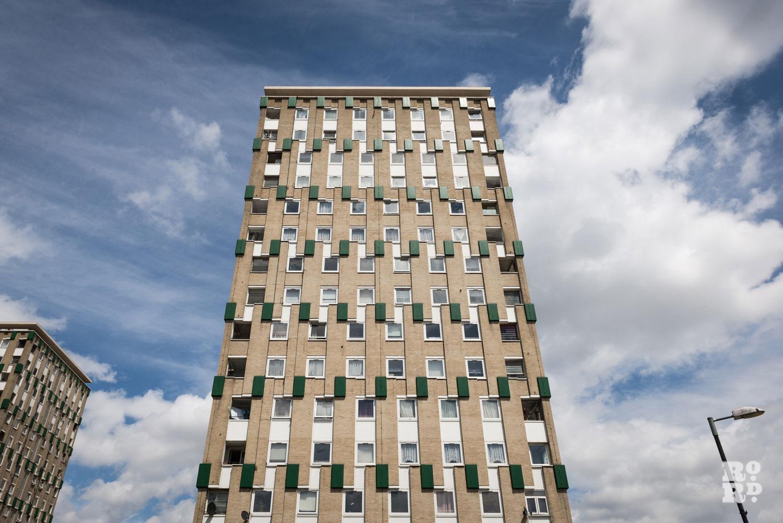 Claire Watts photograph of Cranbrook Estate 4 apartment building