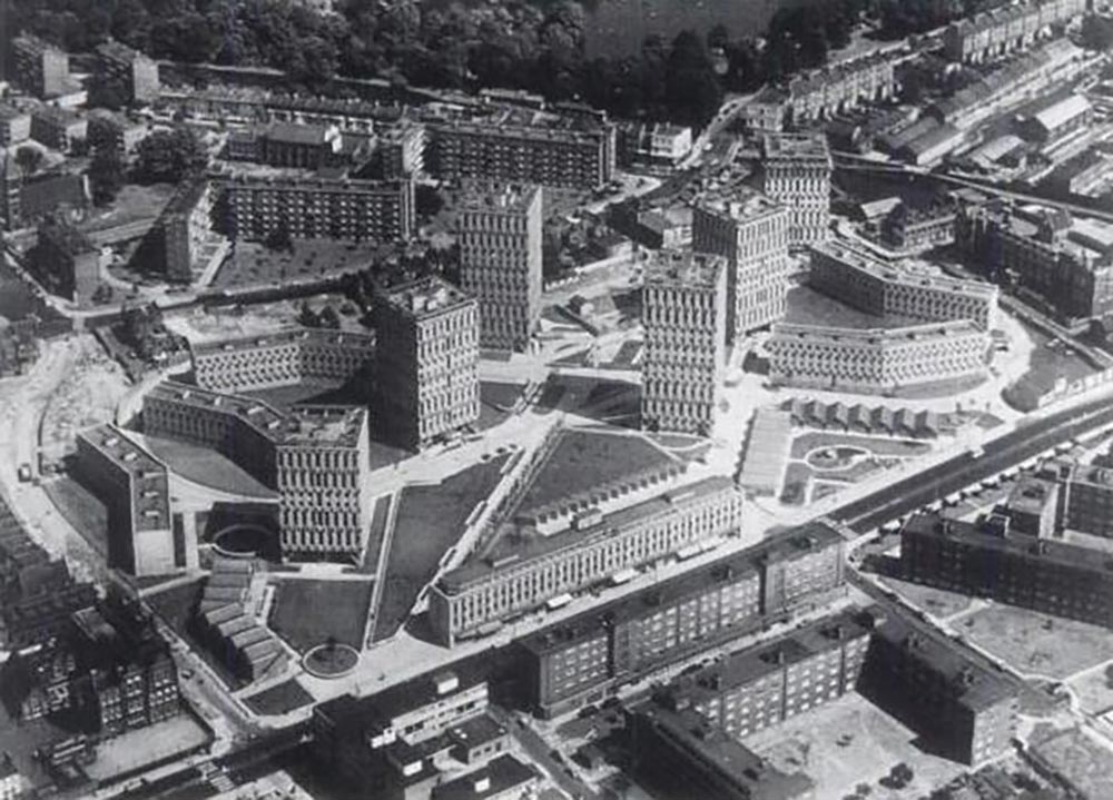 Black and white photograph of the original layout of the Cranbrook estate