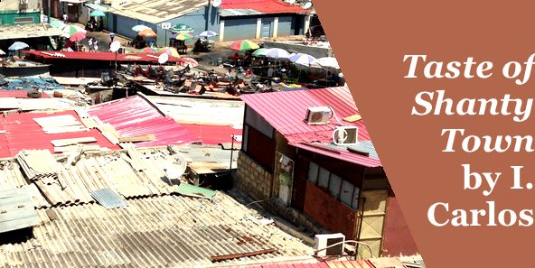 Photo of shanty town rooves