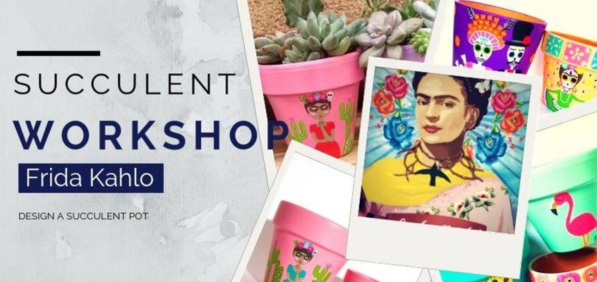 Frida Kahlo inspired plant pot styling workshop