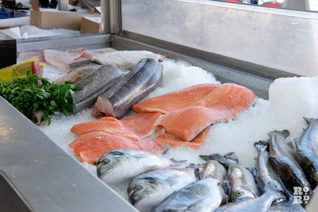 Variety of fresh fish at the Downey Brothers stall