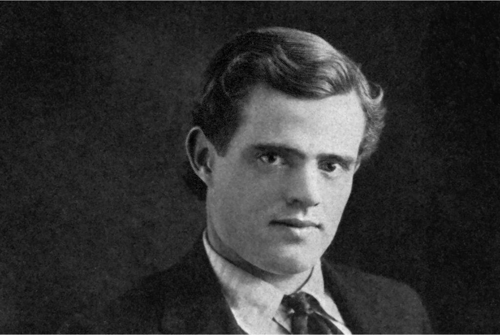 The author Jack London as a young man formally dressed in suit