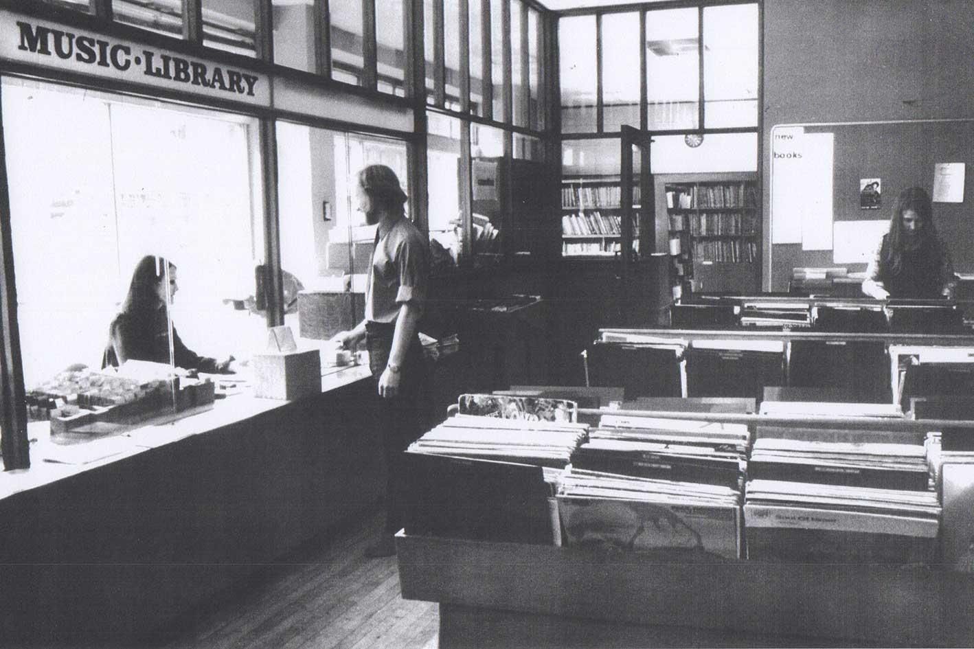 music library interior