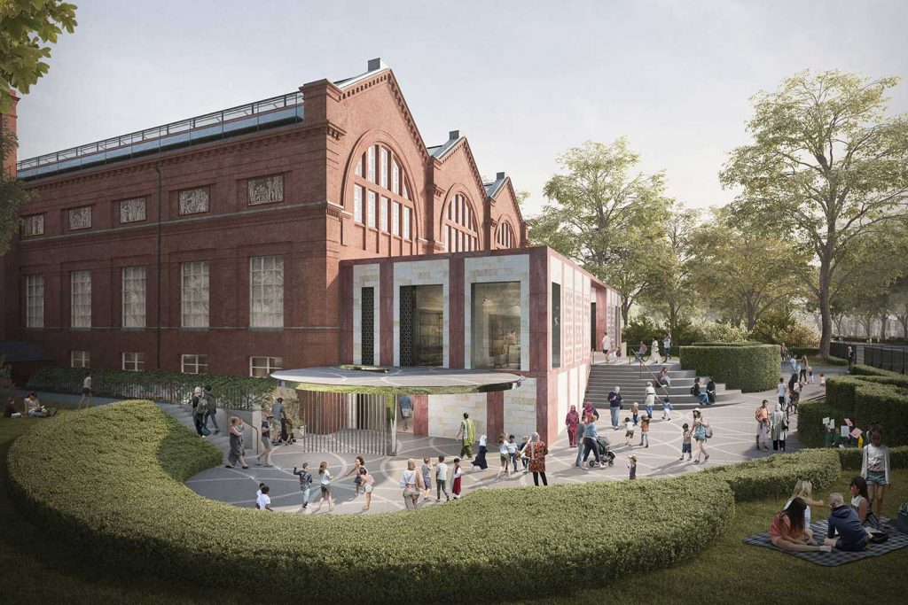 A rendering of the new extension planned for the V&A Childhood Musuem
