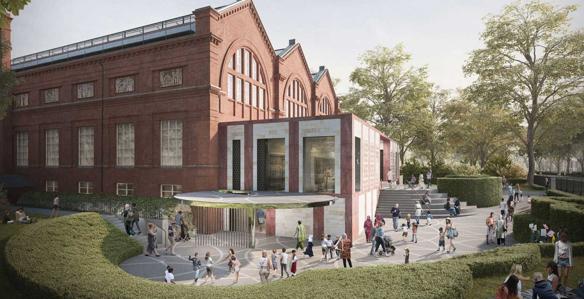 Image of exterior of Museum of Childhood showing proposed lower ground floor entrance on left hand side of building