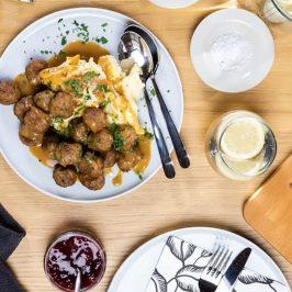 meatballs on dinner table