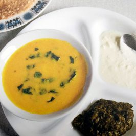 Kadhi with yogurt and roti recipe from 'A Modest Living - Memoirs of a Cockney Sikh'