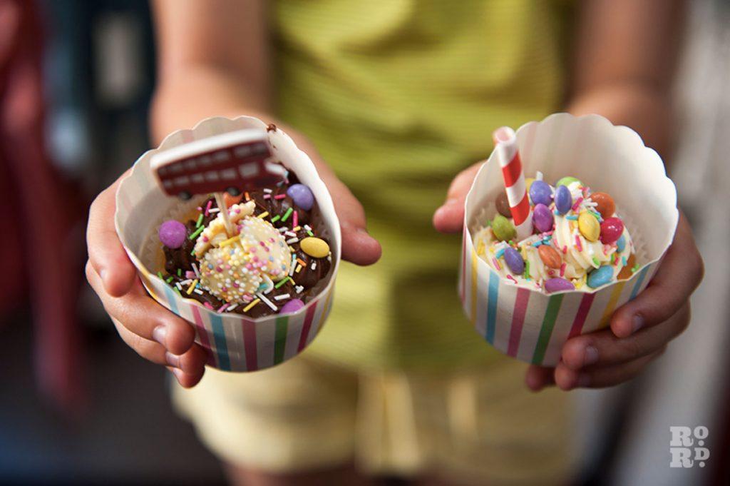 Cupcake creations at Roman Road Festival