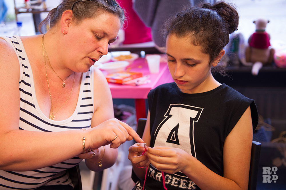 Create and Make Knitting and Sewing,Roman Road Festival