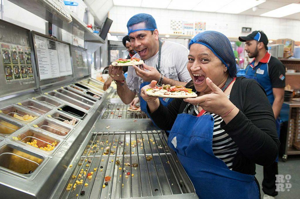 Create & Make Roman Pizza event at Domino Pizza Roman Road Festival