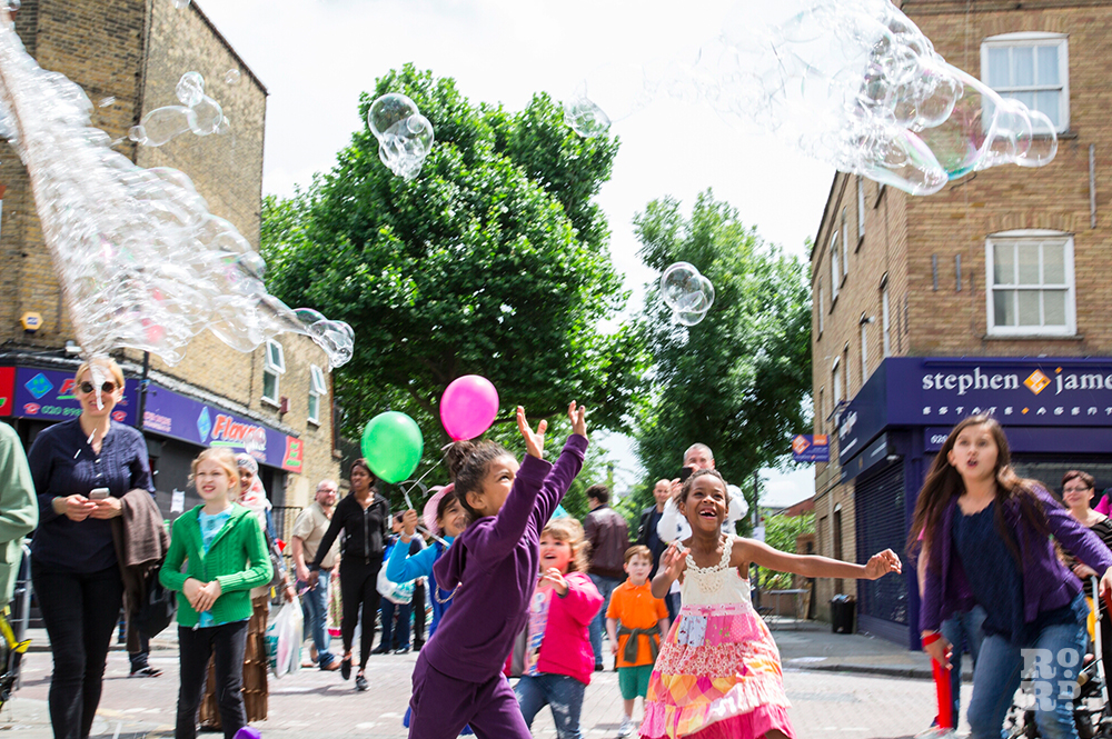 Giant Bubbles Roman Road Festival
